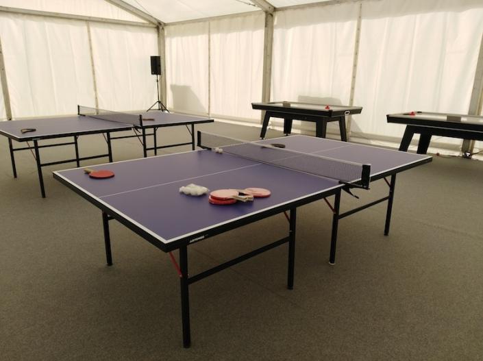 Alquiler air hockey y ping pong