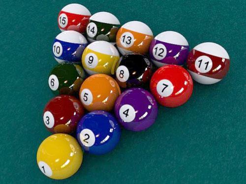 Juego de bolas de billar americano